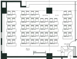大ルーム(イエロールーム、スクール形式 最大40~50名収容)